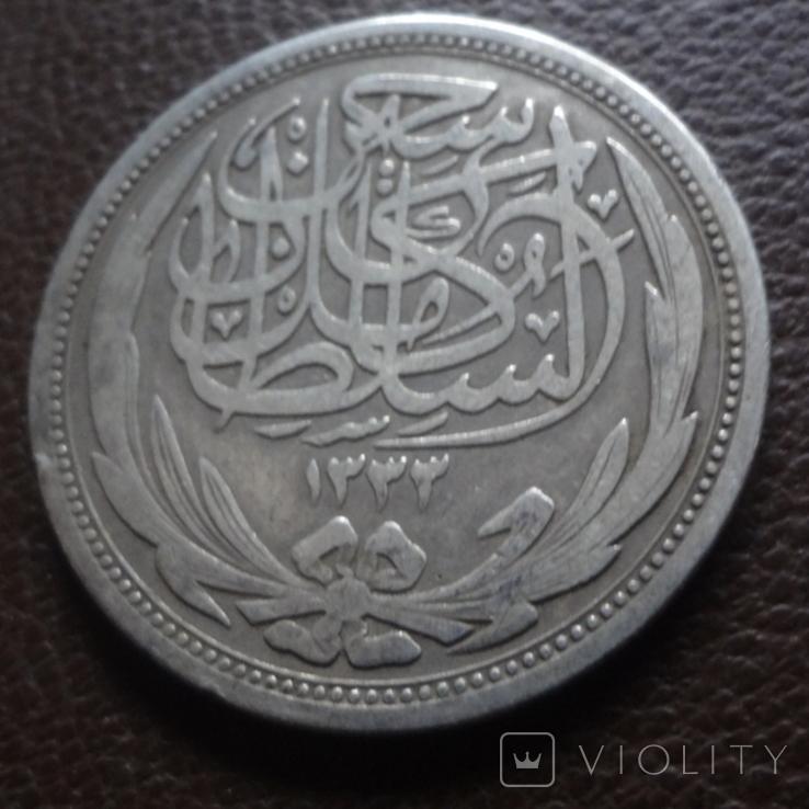 10 пиастров 1917 Египет ( Великобританский) серебро (7.8.5), фото №5