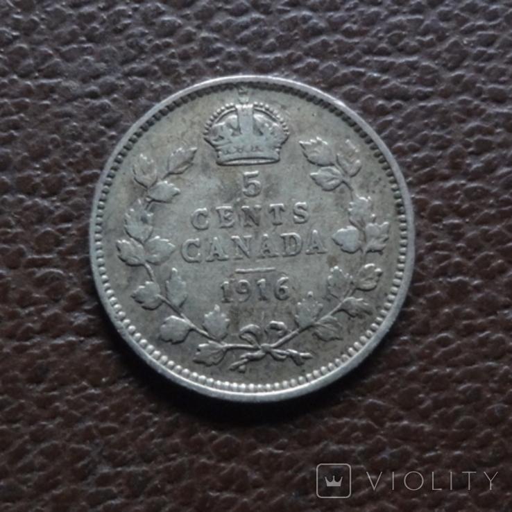 5 центов 1916 Канада серебро (7.8.6), фото №2