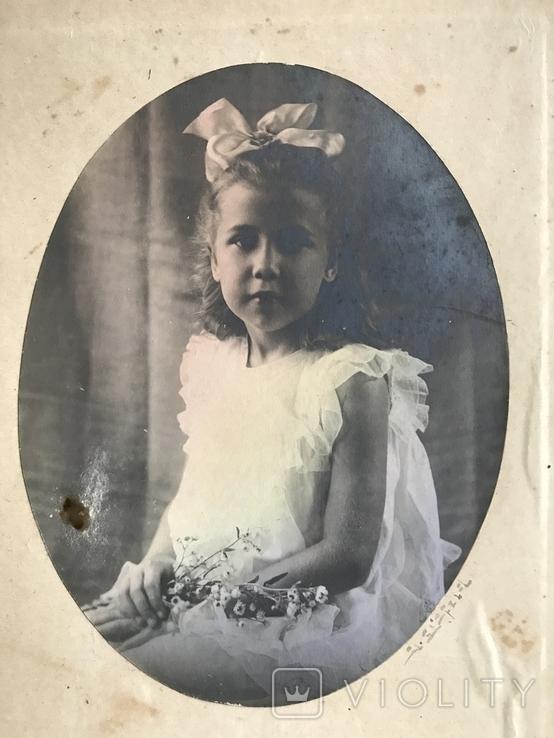 Девочка с бантом Цветы, фото №7