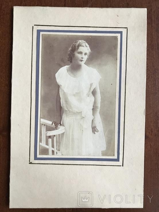 Девушка в белом платье Фото 30х, фото №3