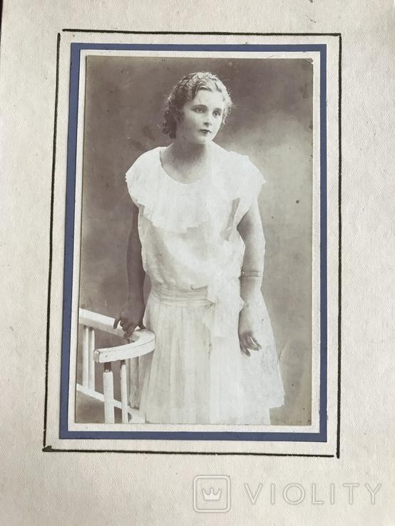 Девушка в белом платье Фото 30х, фото №2