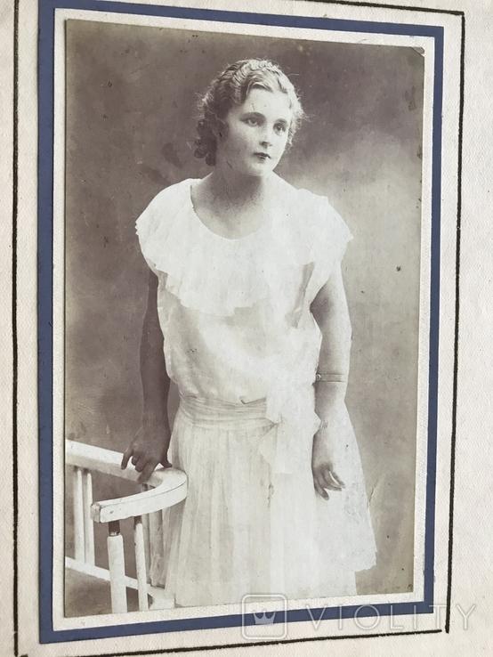 Девушка в белом платье Фото 30х, фото №4