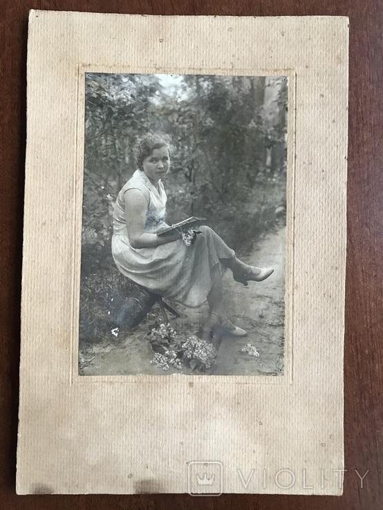 1934 Девушка в платье Туфли Сирень, фото №3