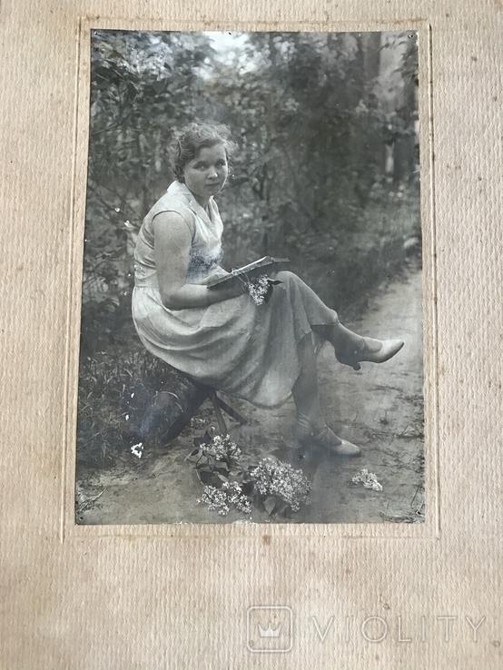 1934 Девушка в платье Туфли Сирень, фото №2