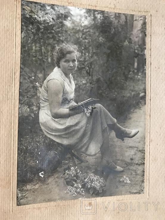 1934 Девушка в платье Туфли Сирень, фото №4