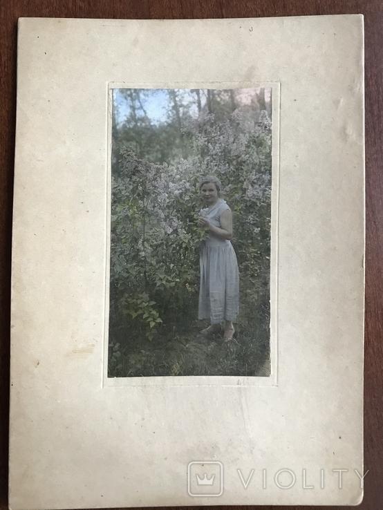 Фото 30х Девушка Платье Сирень, фото №2