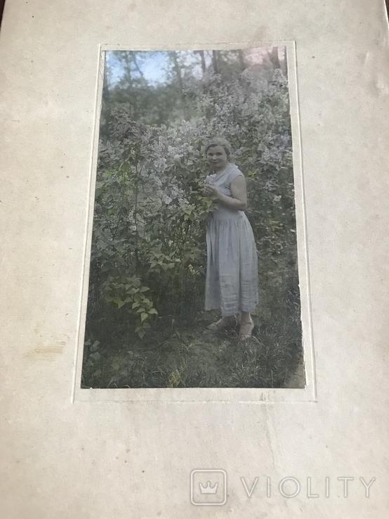Фото 30х Девушка Платье Сирень, фото №3
