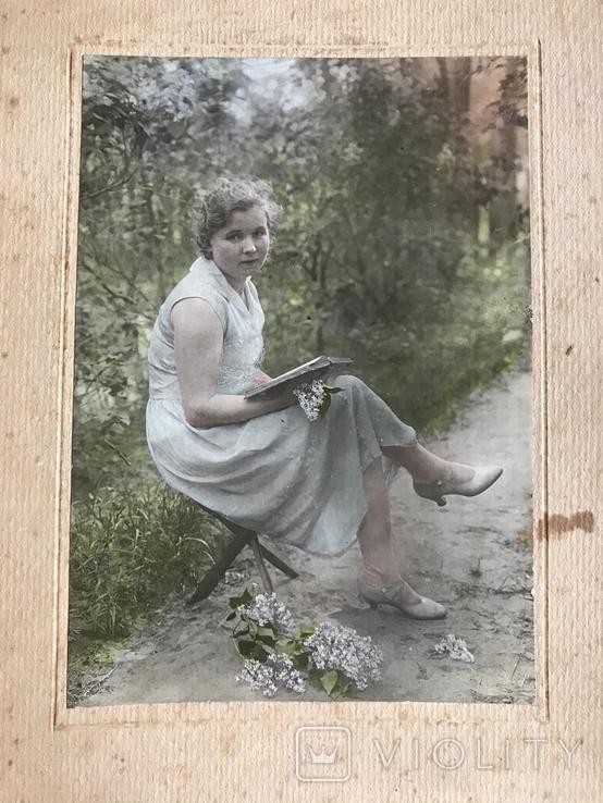 1934 Девушка с книгой Цветы, фото №4