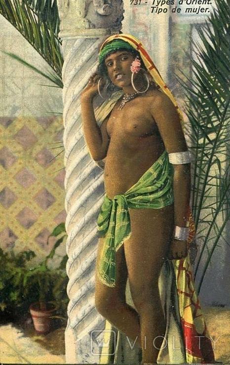 Обнаженная восточная кркасавица. Ню, эротика. 1900-1910-е гг., фото №2
