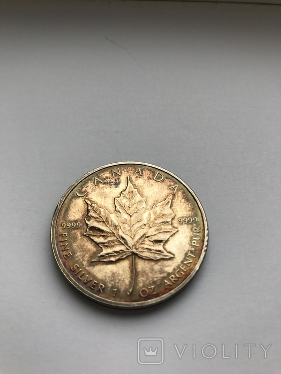 5 долларов 2007 Канада. Серебро. Унция. 999 проба, фото №3