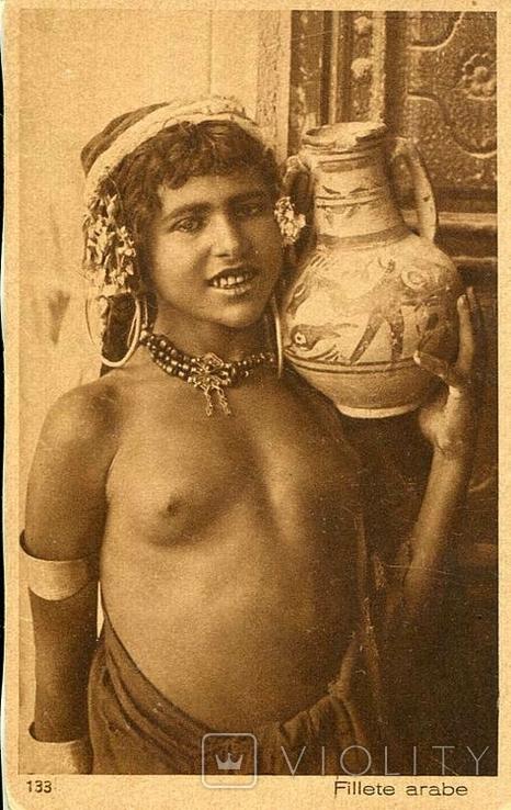 Обнаженная восточная красавица с кувшином. Ню, эротика. 1900-1910-е гг., фото №2