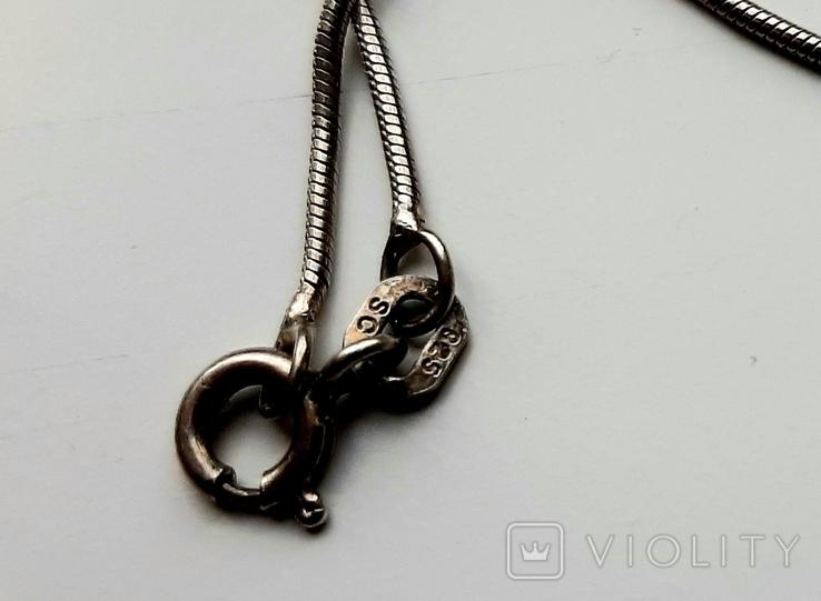 Кулон с цепочкой серебро 925, фото №6