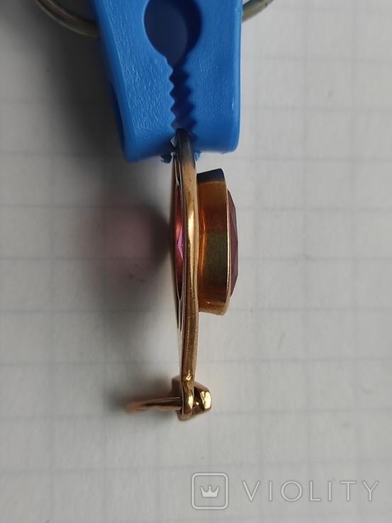 Кулон с камнем золото 585 СССР (звезда), фото №13