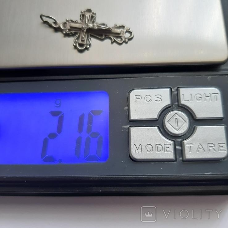 Серебряный (925) крестик двухсторонний 2,16 гр., фото №7