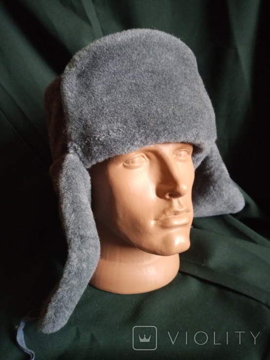 Солдатская шапка ушанка 1987 год, фото №2
