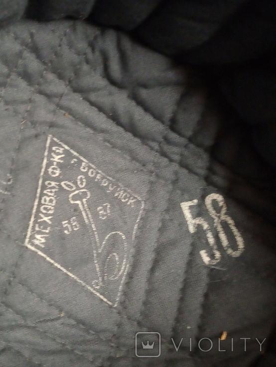 Солдатская шапка ушанка 1987 год, фото №3