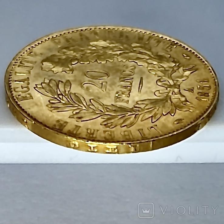 20 франков. 1851. Республика. Франция (золото 900, вес 6,45 г), фото №8
