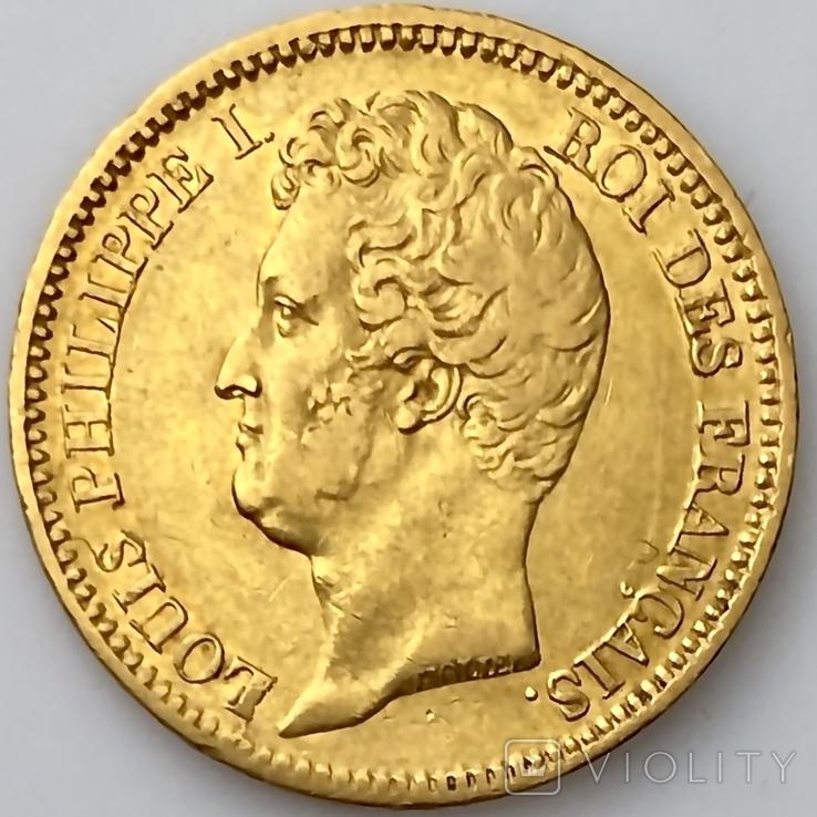 20 франков. 1831. Луи-Филипп I. Франция. (золото 900, вес 6,39 г), фото №2