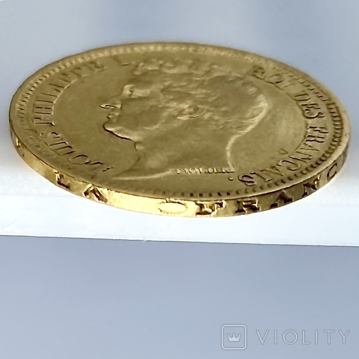 20 франков. 1831. Луи-Филипп I. Франция. (золото 900, вес 6,39 г), фото №8