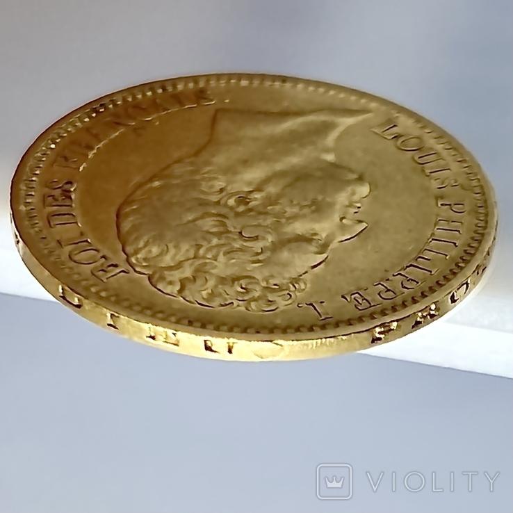 20 франков. 1831. Луи-Филипп I. Франция. (золото 900, вес 6,39 г), фото №9