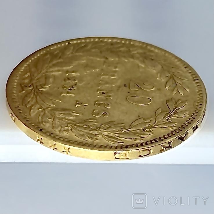 20 франков. 1831. Луи-Филипп I. Франция. (золото 900, вес 6,39 г), фото №11