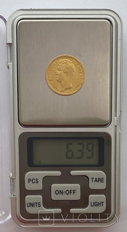 20 франков. 1831. Луи-Филипп I. Франция. (золото 900, вес 6,39 г), фото №13