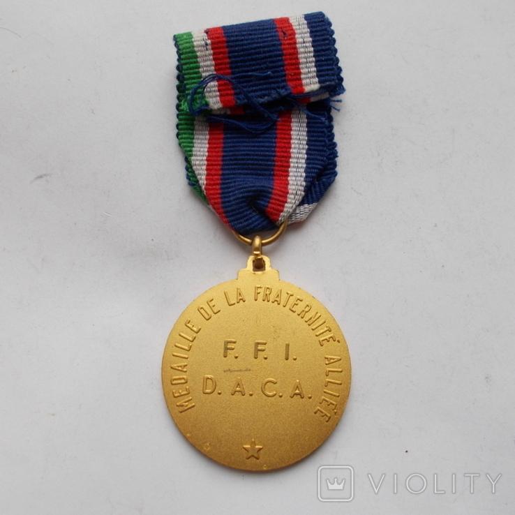 Франция. Медаль братства союзников., фото №4