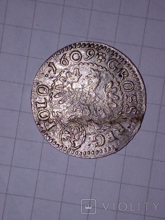 Польша 1 грош,1609р., фото №4