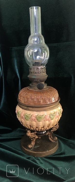Лампа, сецесія 1910-х років, майоліка, фото №2
