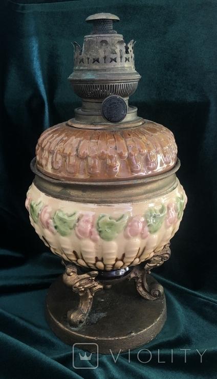 Лампа, сецесія 1910-х років, майоліка, фото №3