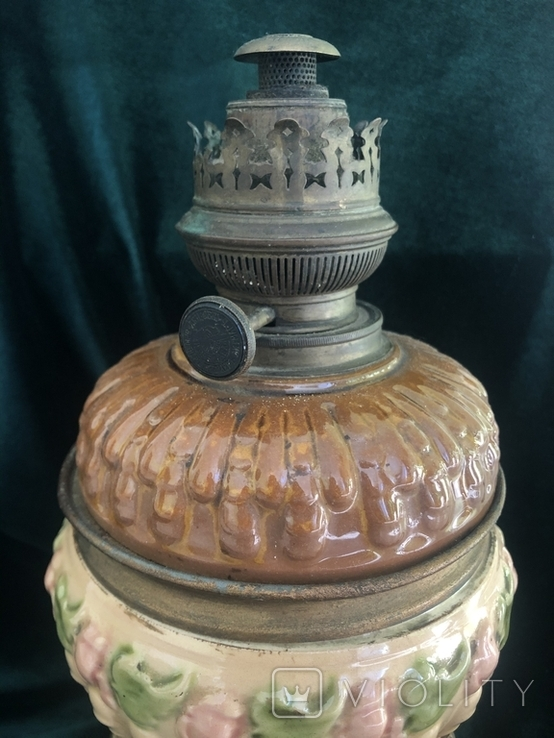 Лампа, сецесія 1910-х років, майоліка, фото №5
