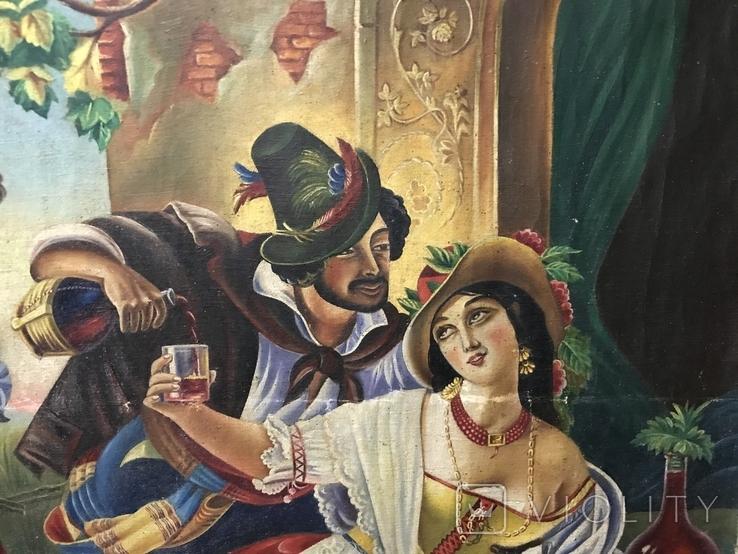 Картина маслом Октябрьский праздник в Риме. Копия, фото №3