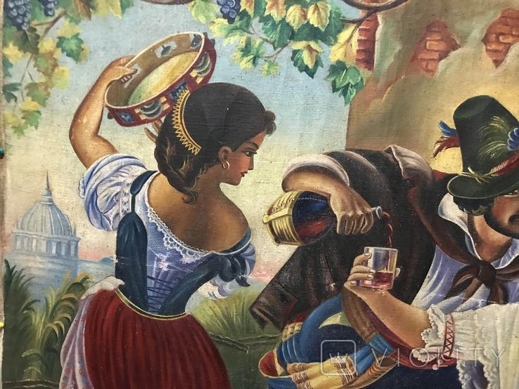 Картина маслом Октябрьский праздник в Риме. Копия, фото №4