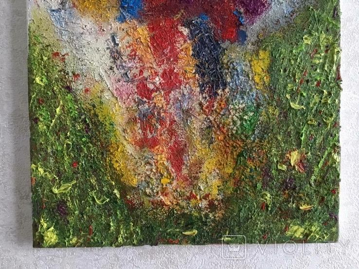 """Картина холст, масло """"Полет цветов"""" Абстракция. 40 х 30 см., фото №5"""