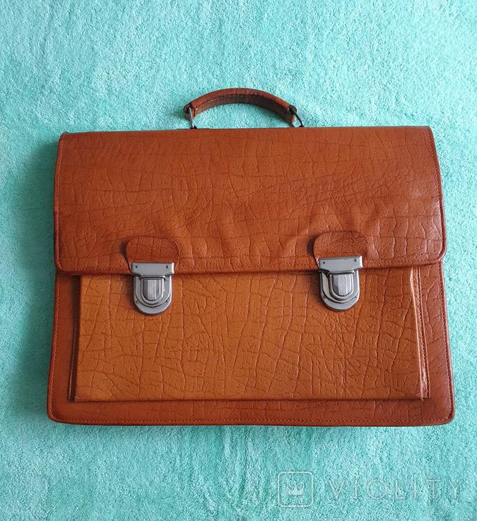 Кожаный портфель СССР, фото №2