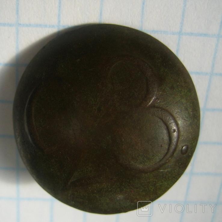 Пуговица полковая нижних чинов РИА с номером 28, фото №6