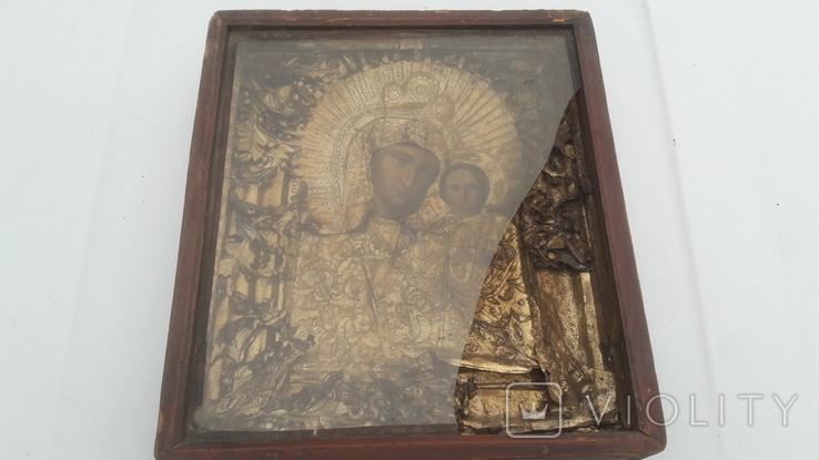 Икона старинная богородица 2, фото №2