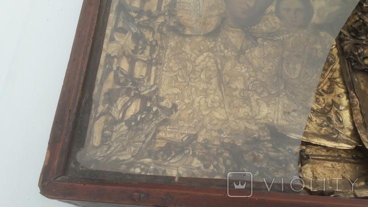 Икона старинная богородица 2, фото №4