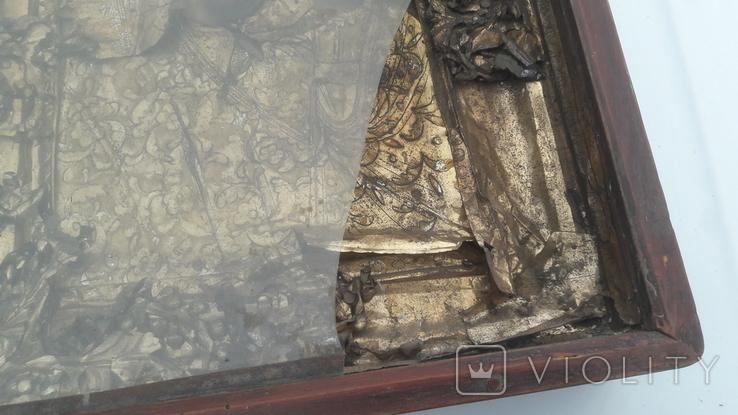 Икона старинная богородица 2, фото №7