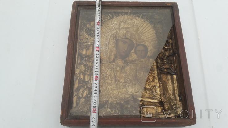 Икона старинная богородица 2, фото №9