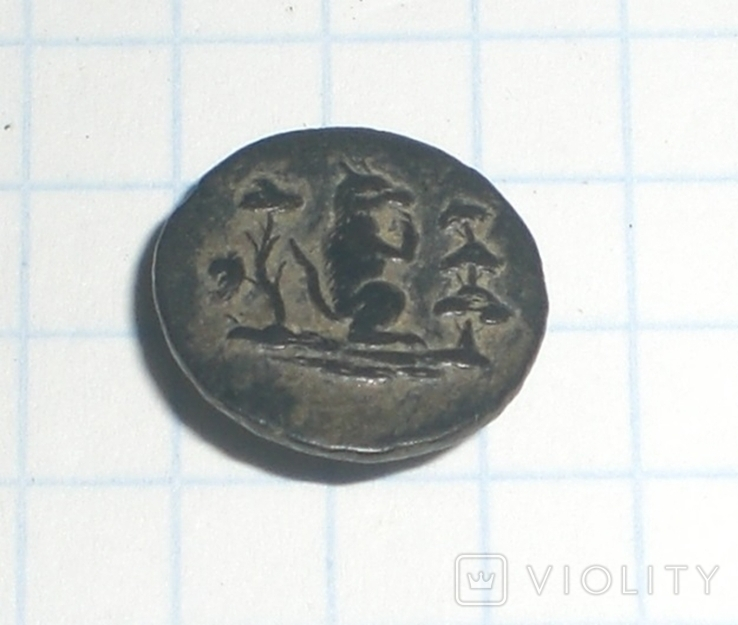 Пуговица старинная с Чертом, фото №3