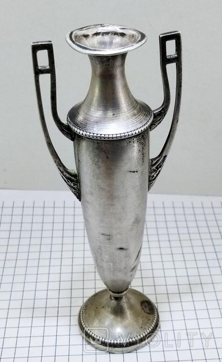 Кубок серебро 800 проба клеймо, старинный., фото №2