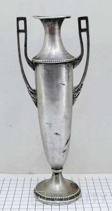 Кубок серебро 800 проба клеймо, старинный., фото №3