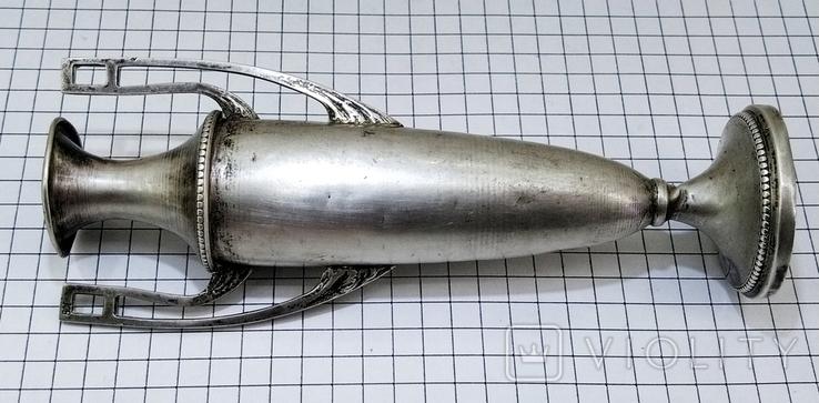 Кубок серебро 800 проба клеймо, старинный., фото №5