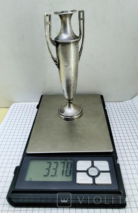 Кубок серебро 800 проба клеймо, старинный., фото №6