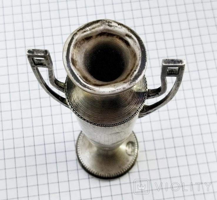 Кубок серебро 800 проба клеймо, старинный., фото №13