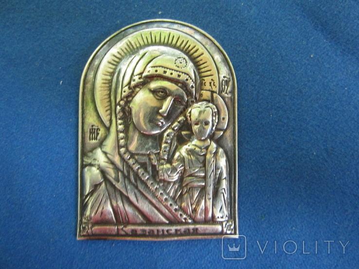Иконка Казанская БМ серебро., фото №2