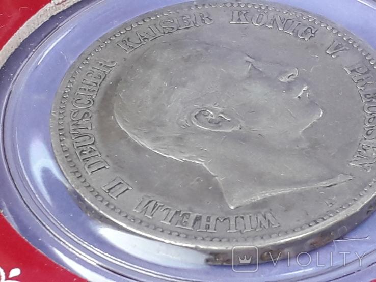 5 марок, Пруссия, император Вильгель II, 1900 год, серебро 0.900, 27.77 грамм, фото №5