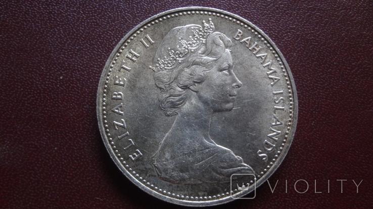 2 доллара 1966 Багамы 29.8 г серебро (8.4.2), фото №4