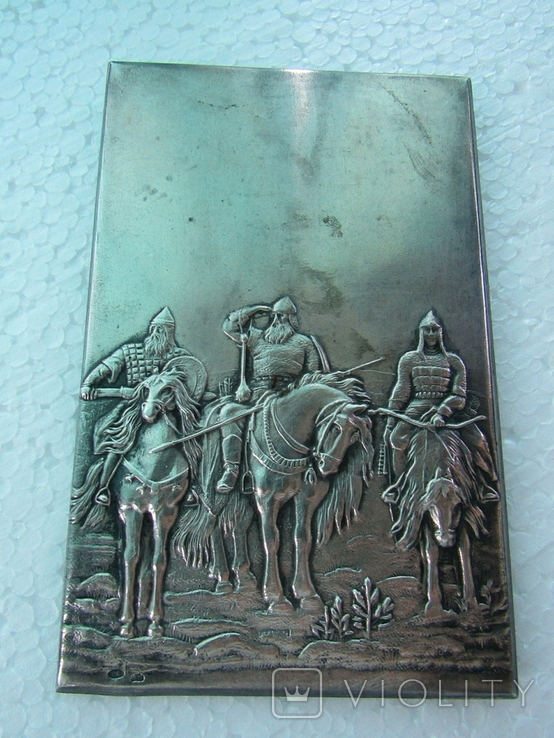Серебряная накладка Три богатыря, фото №2